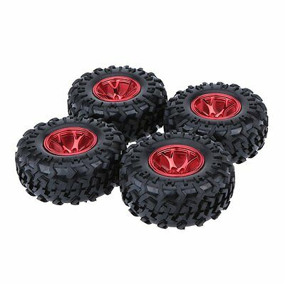 4Pcs 1/10 Monster Truck Tire Tyres for Traxxas HSP HPI Kyosho RC Model Car J8Y6