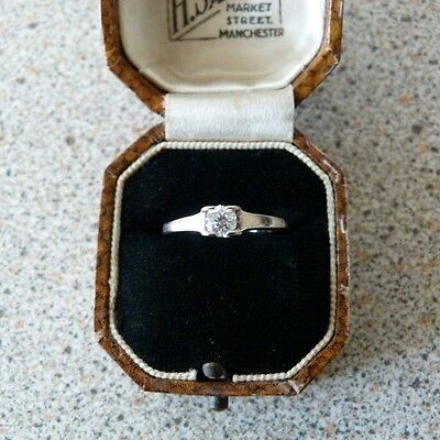 18 ct White Gold Diamond Solitaire Ring .25 ct.