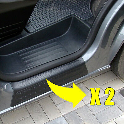 2 X Vw T5 Transporter Door Entry Guard Sill Protector Moulding Cover Plastic