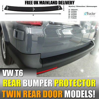 Vw Volkswagen Transporter T6 2015 > Rear Bumper Protector Strip Twin Rear Doors