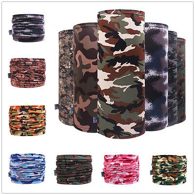 Chic Lycra Bandana Head Face Mask Neck Gaiter Headwear Camouflage Tube Scarf