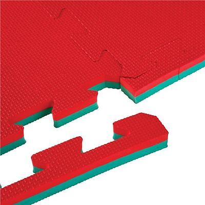 Bruce Lee Interlocking High Impact Gym Floor Mat - Red/Green, 200 x 100 cm