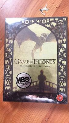 Game of thrones season 5 region 2 new sealed free post