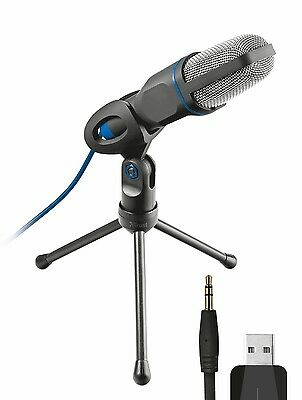 Trust Micro USB Microphone for PC and Laptop Includes Tripod Studio style