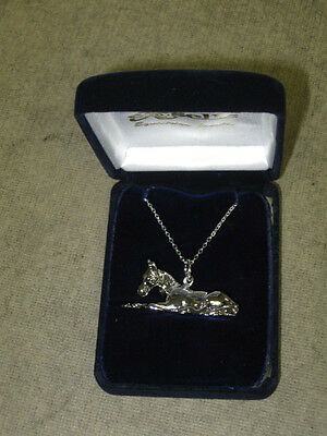 New Equine Jewelry Platinum Necklaces match ear rings horse necklace