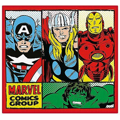 Marvel Comics RETRO Floor Rug Kids Children's Boys 100% Official Large