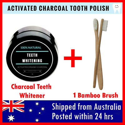 Activated Charcoal Teeth Whitening 100% Organic Teeth Whitener Powder Carbon AU