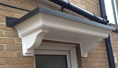 Omega Xl Grp Door Canopy Grey Roof With Integral Gallows Brackets And Fixing Kit