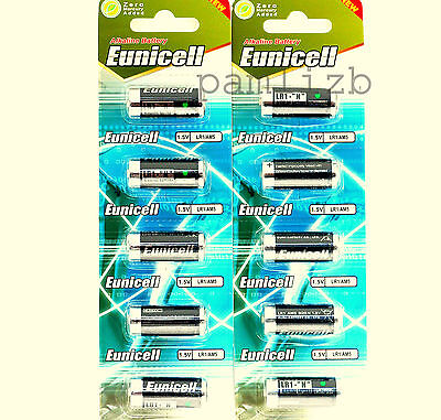 LR1  N  MN9100   E90 AM5  1.5v  Alkaline  battery   Eunicell   10 x Batteries ,