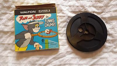 Vintage Walton Super 8mm Film - Tom and Jerry in Tennis Chumps