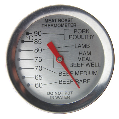 Meat Thermometer Dial Leave In Oven Roasting Beef Lamb Turkey Steak - In-063