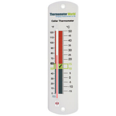 Cellar Wall Thermometer - Cooler Beer Wine Home Brew Temperature - In-037