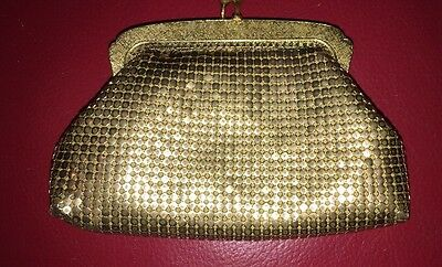 Vintage 1960 OROTON GOLD MESH WEST GERMANY Coin Purse. Great Used Condition