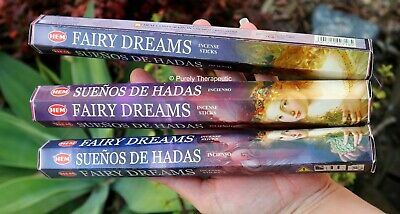 ~FAIRY DREAMS INCENSE STICKS~Hem~Hexagonal Pack of 20 Sticks~Wicca Smudge Pagan