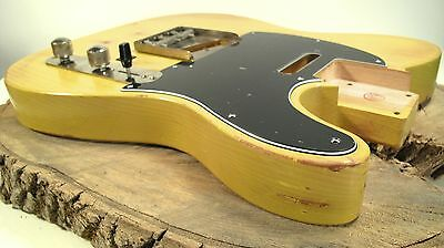 Telecaster Real Nitro Aged  Guitar Body - Relic by LQAF - 50s/60s cut - Blond -