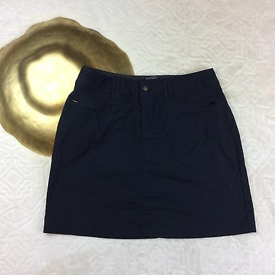 REI Women's Outdoor Black Mini Skort Skirt Nylon Hiking Climbing Walking Size 0