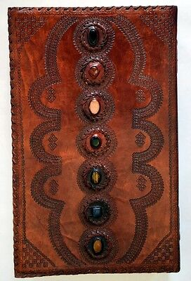 EXTRA LARGE Book of Shadows Leather Journal B.0S Coven Size Spell Book Blank