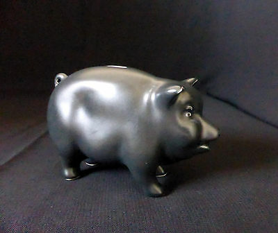 "SYLVAC ENGLAND antique / vintage 4.1"" Porcelain figurine PIG PIGGY BANK ornament"