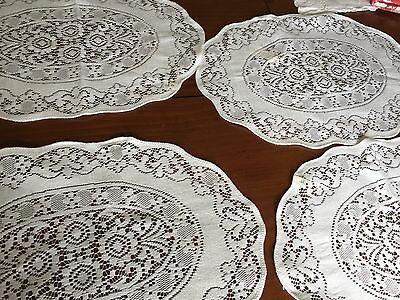 Quaker Lace Doilies Placemats White Set of 4 NWT