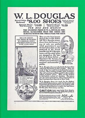 1921 Print Ad for DOUGLAS SHOES ~ FACTORY TO CUSTOMER ~ BROCKTON, MASS.