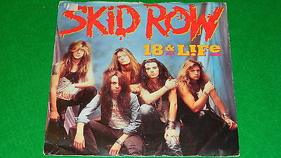 "SKID ROW : 18 & life / Midnight Tornado - Orig 1990 7"" single and pic sleeve EX"
