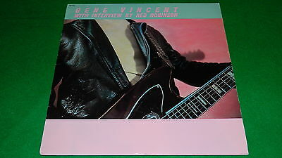 """GENE VINCENT Red Robinson interview and music - Original 1981 US issue 12"""" LP EX"""