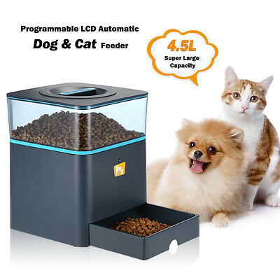 4.5L LCD Automatic Feeder for Cat Dog Remote Control Food Dispenser