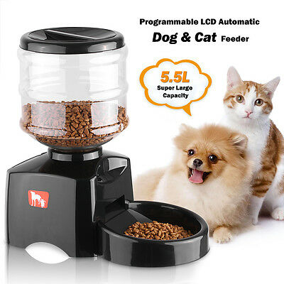 Automatic Pet Feeder for Cat Dog Electric Dry Food Dispenser Dish Bowl