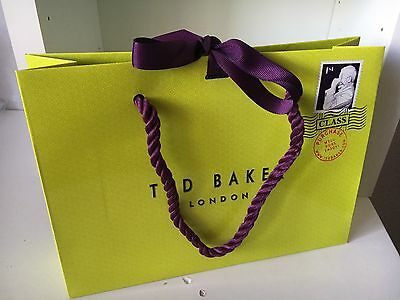 Ted Baker Paper Gift Bags Designer Bags Small 17Cm X 23.5Cm Authentic Gift Bag