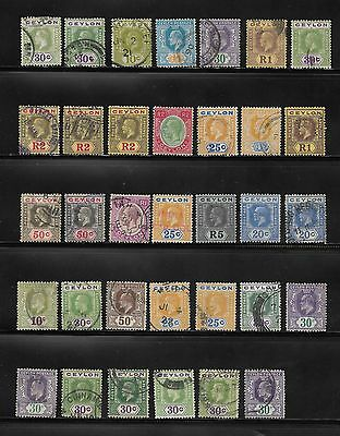 Queen Victoria Onwards Collection Of Ceylon Stamps Used