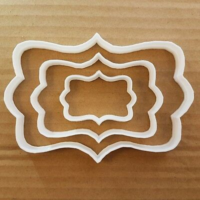 Plaque Mirror Frame Panel Plate Shape Cookie Cutter Dough Biscuit Pastry Stencil