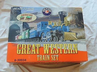 Lionel O scale Great Western Train Set with Lincoln Logs