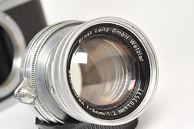 LENS  LEITZ  SUMMICRON   50mm  f/2, LTM Leica mount, collapsible