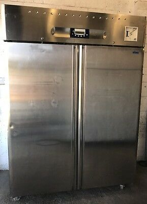 Stainless Steel Double Door Freezer