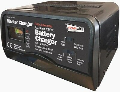 100A Automatic Intelligent Master Battery Charger + Jump Starter Car Van boat