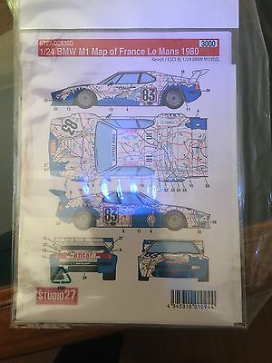 "Decal Studio 27 BMW M1 ""carte De France"" 1/24"