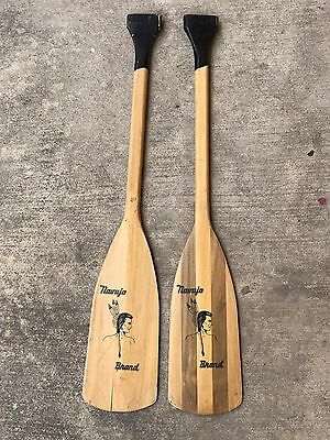 Navajo Brand Vintage Wooden Canoe Paddles