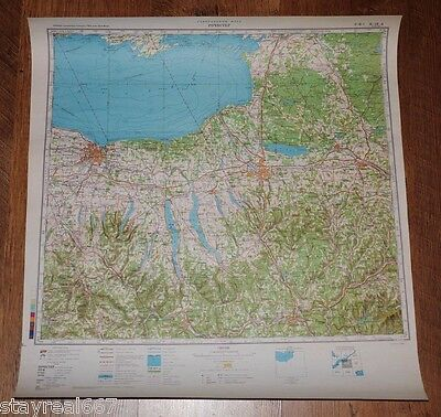 Authentic Soviet Army Military Topographic Map Rochester, Syracuse, New York USA