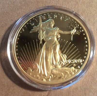 2-1933 UNITED STATES TREASUREY LIBERTY $20 dollar gold plated coin COPY