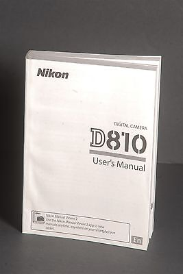 Nikon Genuine D810 Camera Instruction Book / Manual / User Guide