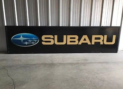 Vintage SUBARU Dealer Sign Large 10' X 2.5' Outdoor Lighter RARE Pick-Up Only