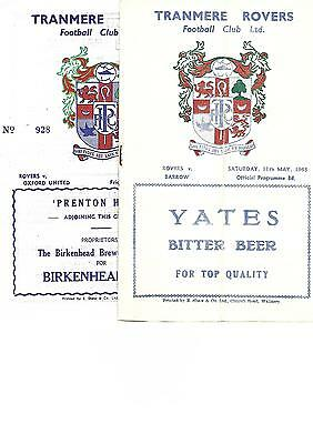514 x TRANMERE ROVERS home and away programmes 1962-2014 will deliver locally
