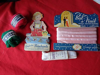 Petit lot de mercerie ancienne Small batch of old haberdashery