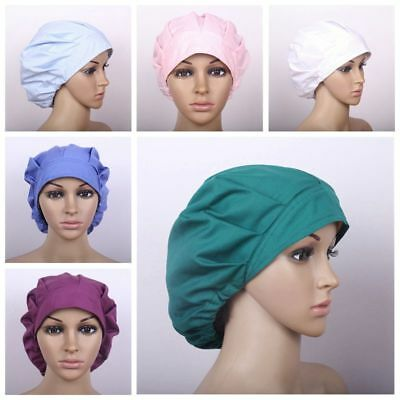 Men Women Doctor Nurses Scrub Cap Mask Medical Surgical Surgery Cotton Hat