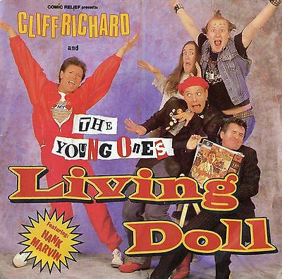 CLIFF RICHARD AND THE YOUNG ONES - LIVING DOLL - PS - 80's