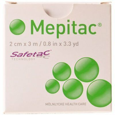 "Mepitac Silicone Medical Tape 0.8"" x 3.3yd (each) 298300"