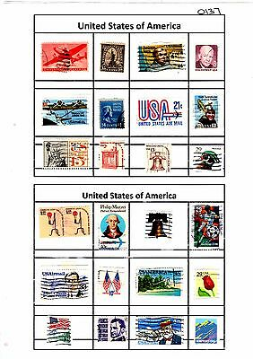 Used USA Stamps Approx 300 nos USA Set #5a