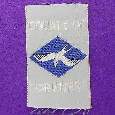 New Vintage County Of Orkney Scout Badge Ribbon Woven Ref 256