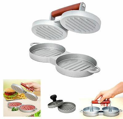 Single Double Hamburger Beef Burger Quarter Pounder Maker Mould Press Patty Bbq