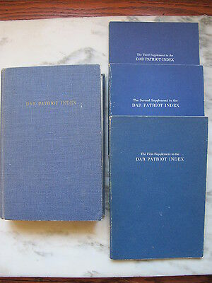 DAR Patriot Index Daughters of the American Revolution History Genealogy 1968